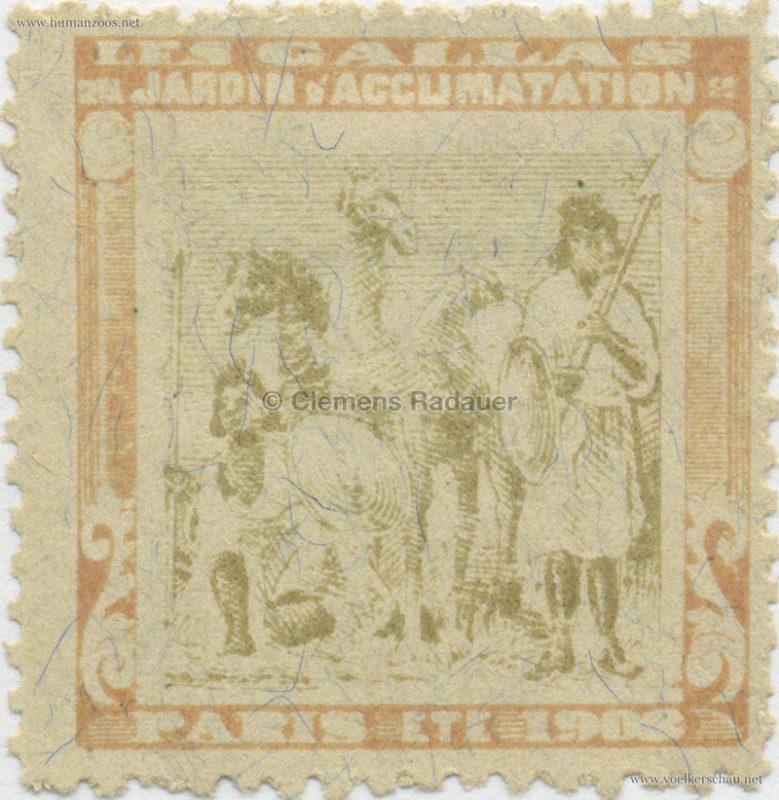 1908 Les Gallas - Jardin d'Acclimatation STAMP 10