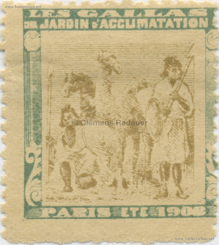 1908 Les Gallas - Jardin d'Acclimatation STAMP 12