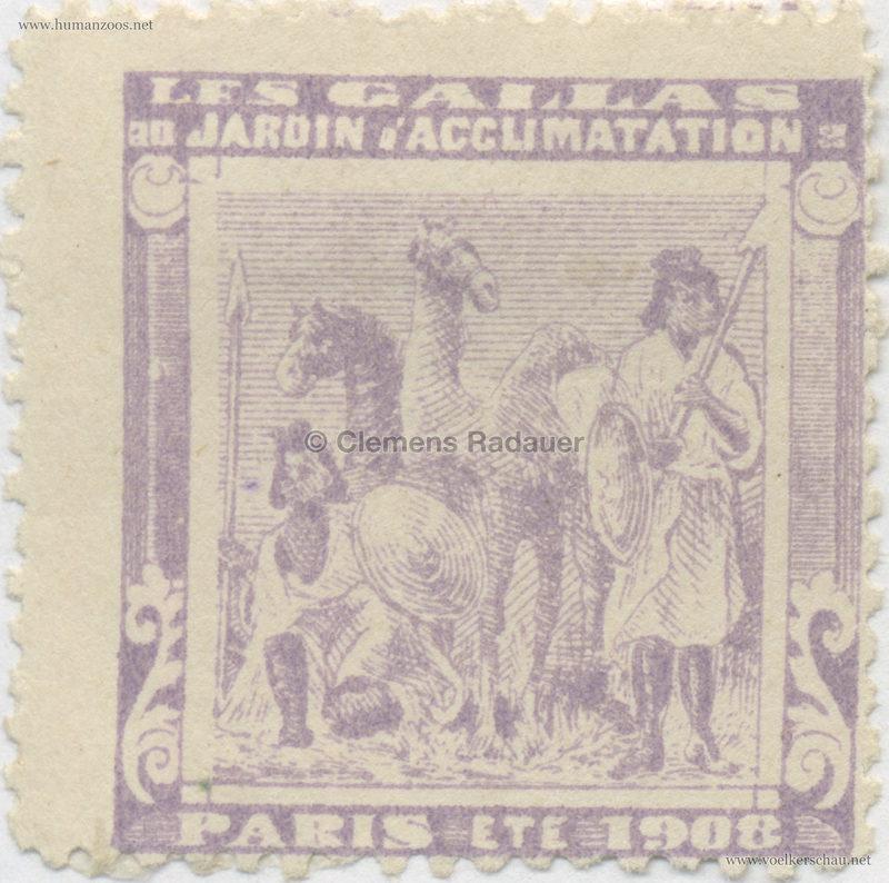 1908 Les Gallas - Jardin d'Acclimatation STAMP 13