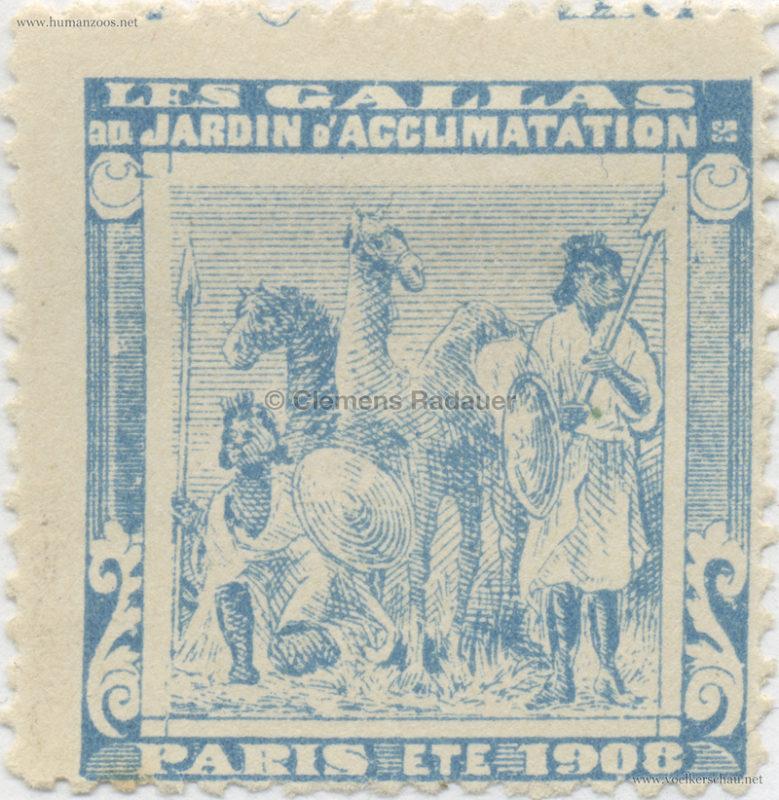 1908 Les Gallas - Jardin d'Acclimatation STAMP 14