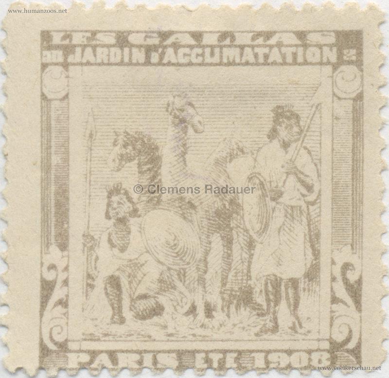 1908 Les Gallas - Jardin d'Acclimatation STAMP 15