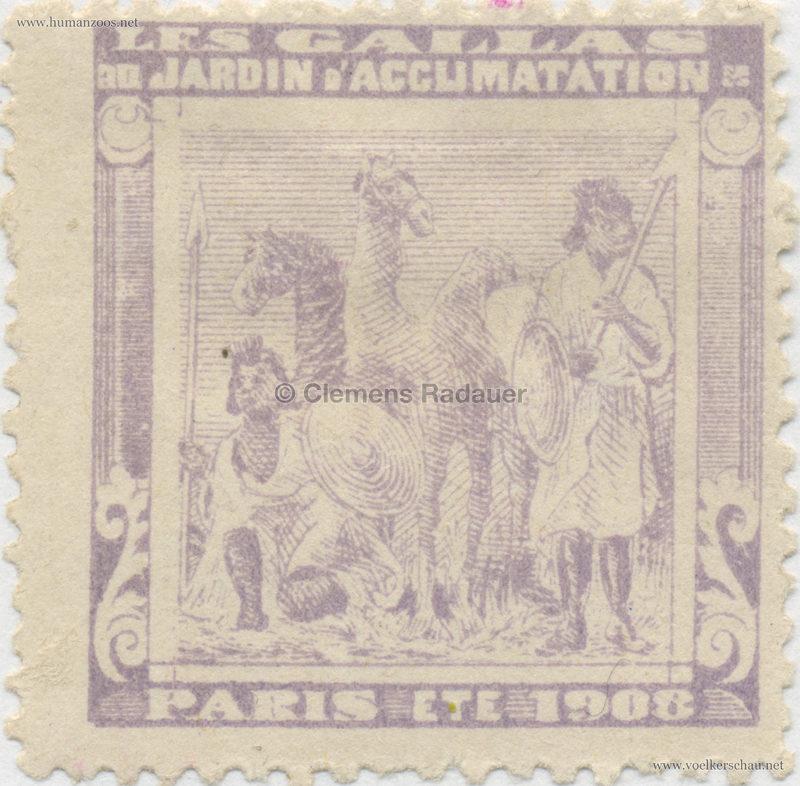 1908 Les Gallas - Jardin d'Acclimatation STAMP 16