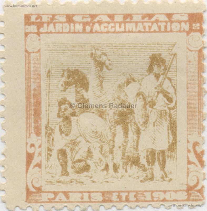1908 Les Gallas - Jardin d'Acclimatation STAMP 17