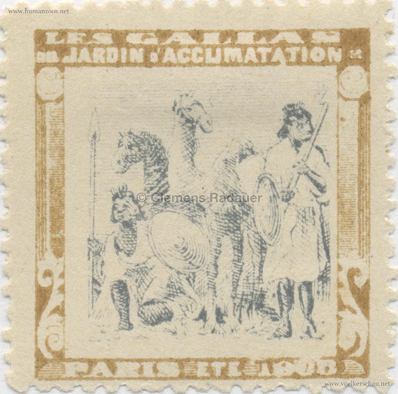 1908 Les Gallas - Jardin d'Acclimatation STAMP 18