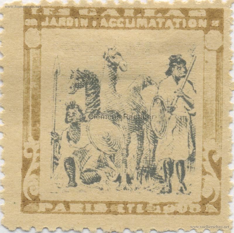 1908 Les Gallas - Jardin d'Acclimatation STAMP 19