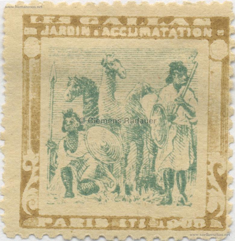 1908 Les Gallas - Jardin d'Acclimatation STAMP 20