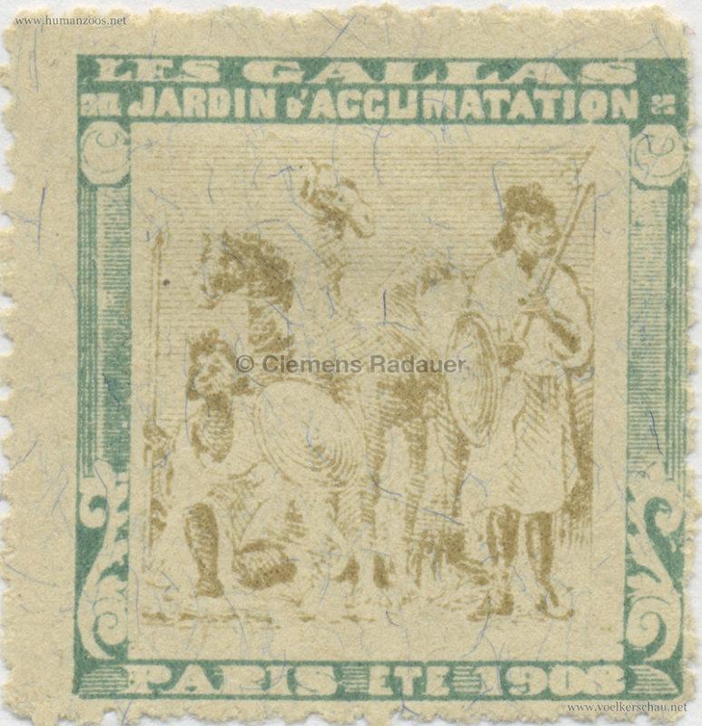 1908 Les Gallas - Jardin d'Acclimatation STAMP 21