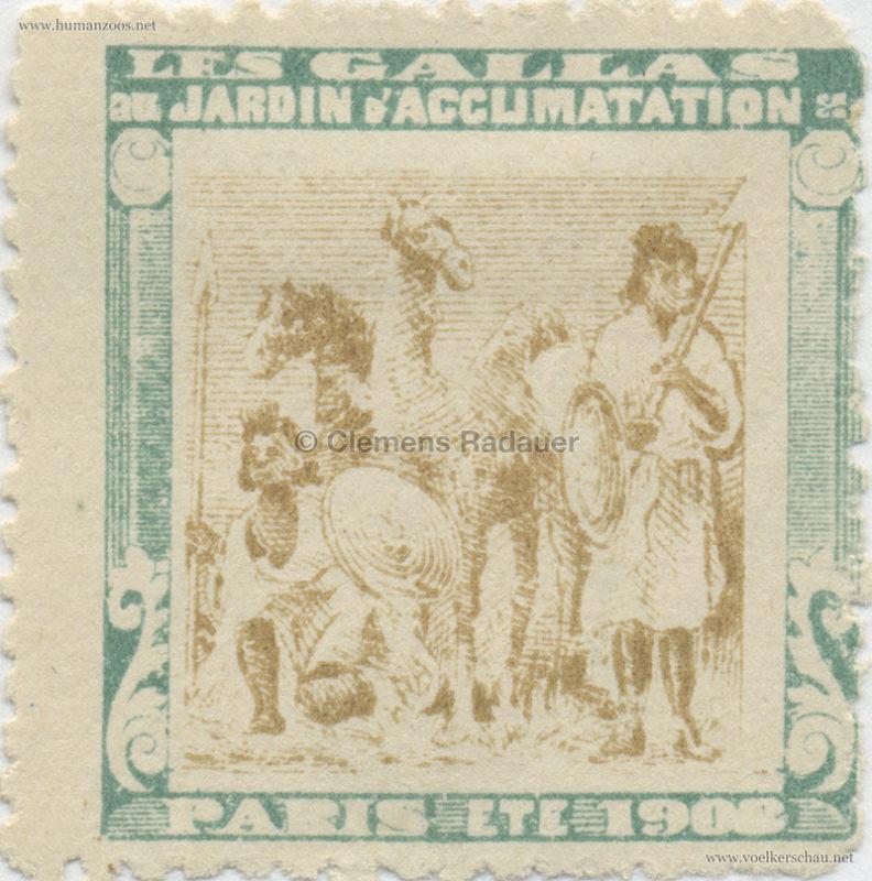 1908 Les Gallas - Jardin d'Acclimatation STAMP 22