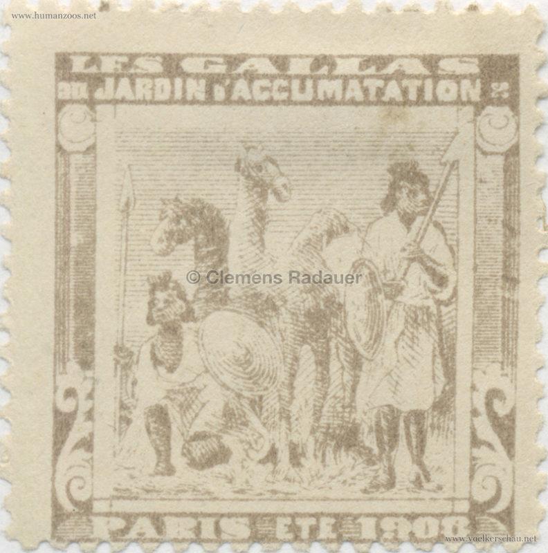 1908 Les Gallas - Jardin d'Acclimatation STAMP 23