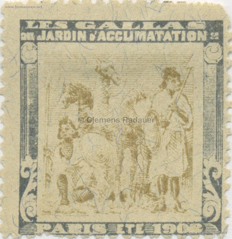1908 Les Gallas - Jardin d'Acclimatation STAMP 24