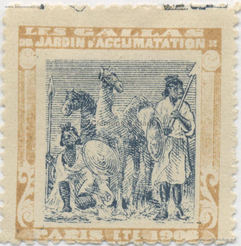 1908 Les Gallas - Jardin d'Acclimatation STAMP 25