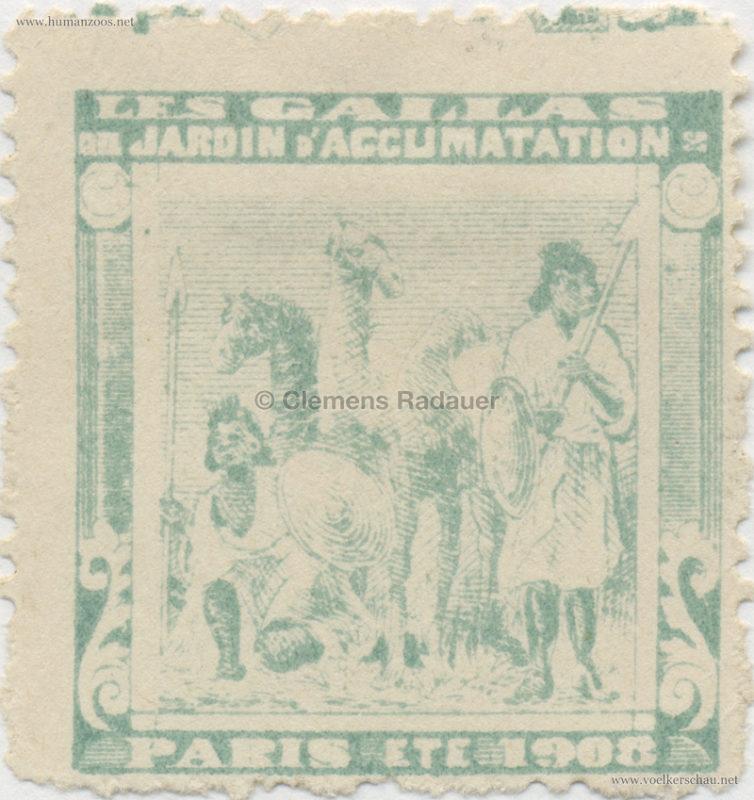 1908 Les Gallas - Jardin d'Acclimatation STAMP 26