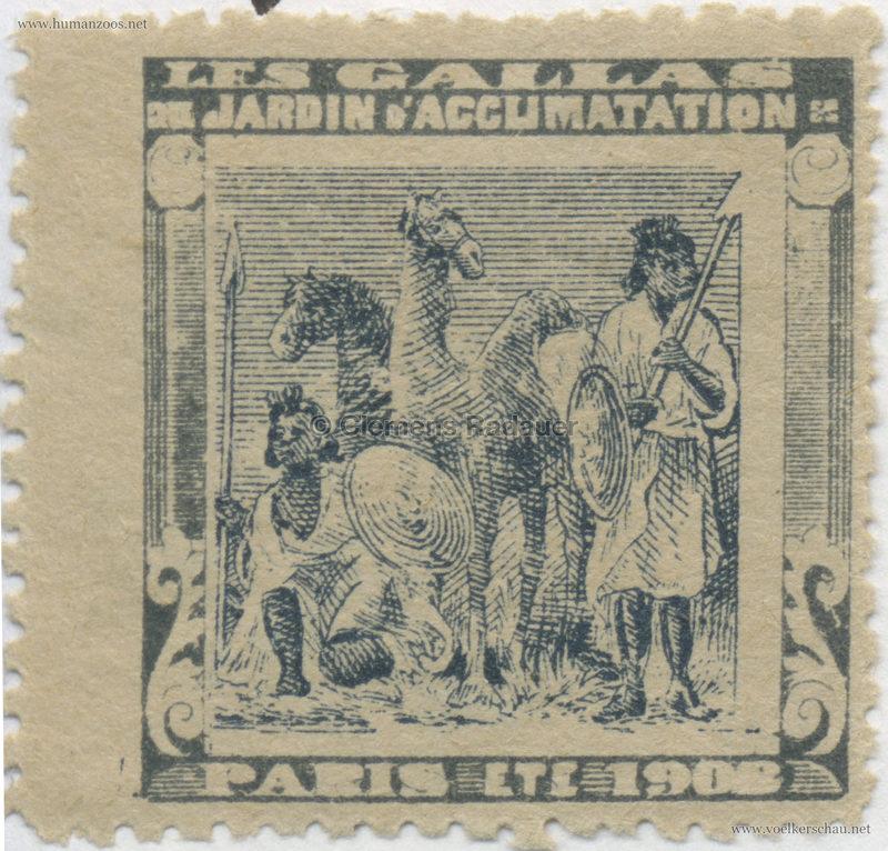 1908 Les Gallas - Jardin d'Acclimatation STAMP 27
