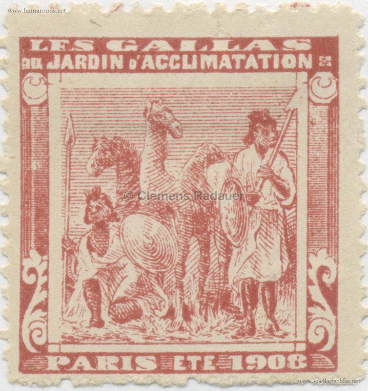 1908 Les Gallas - Jardin d'Acclimatation STAMP 28