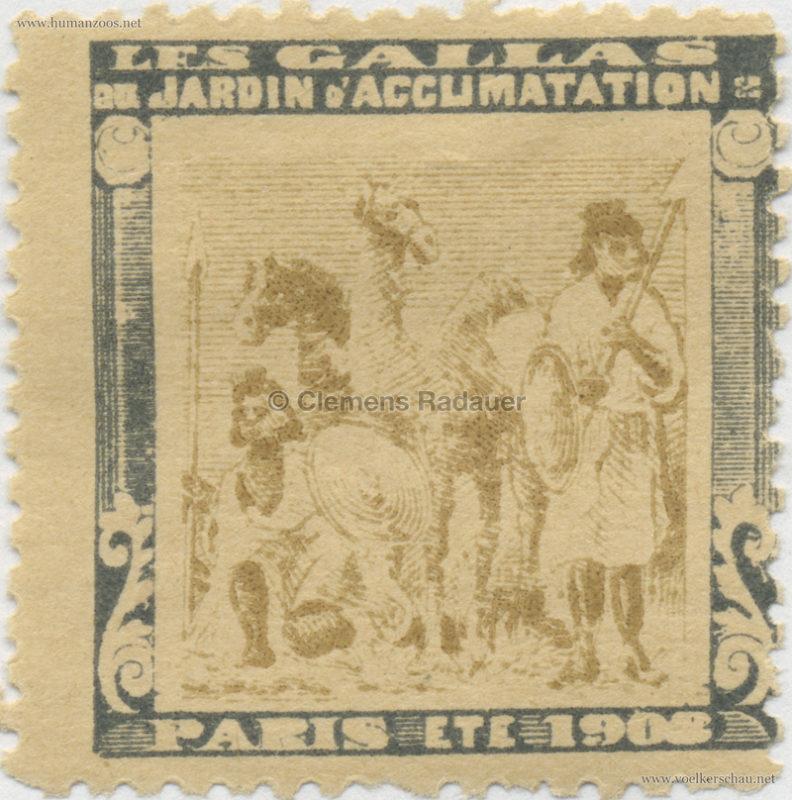 1908 Les Gallas - Jardin d'Acclimatation STAMP 29