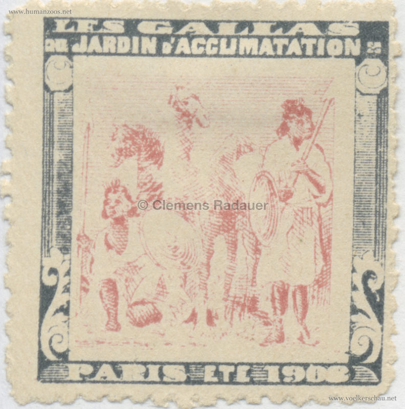 1908 Les Gallas - Jardin d'Acclimatation STAMP 30