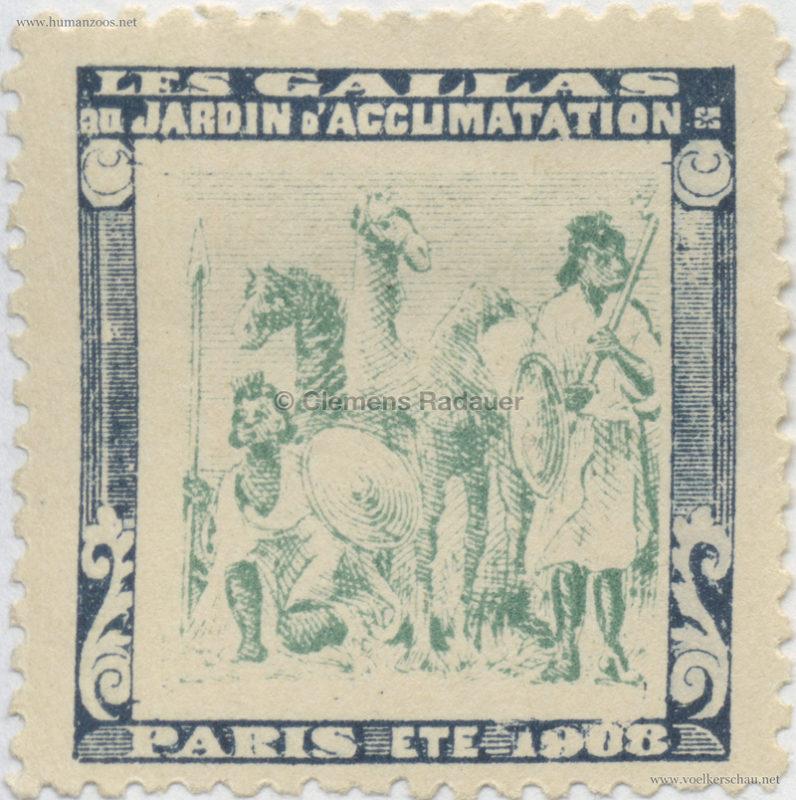 1908 Les Gallas - Jardin d'Acclimatation STAMP 31