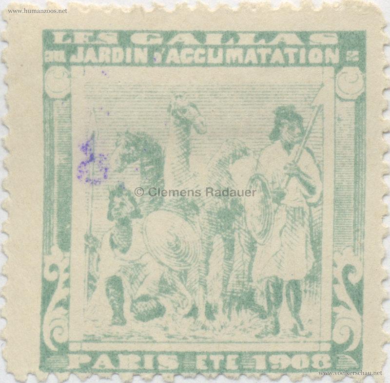 1908 Les Gallas - Jardin d'Acclimatation STAMP 32