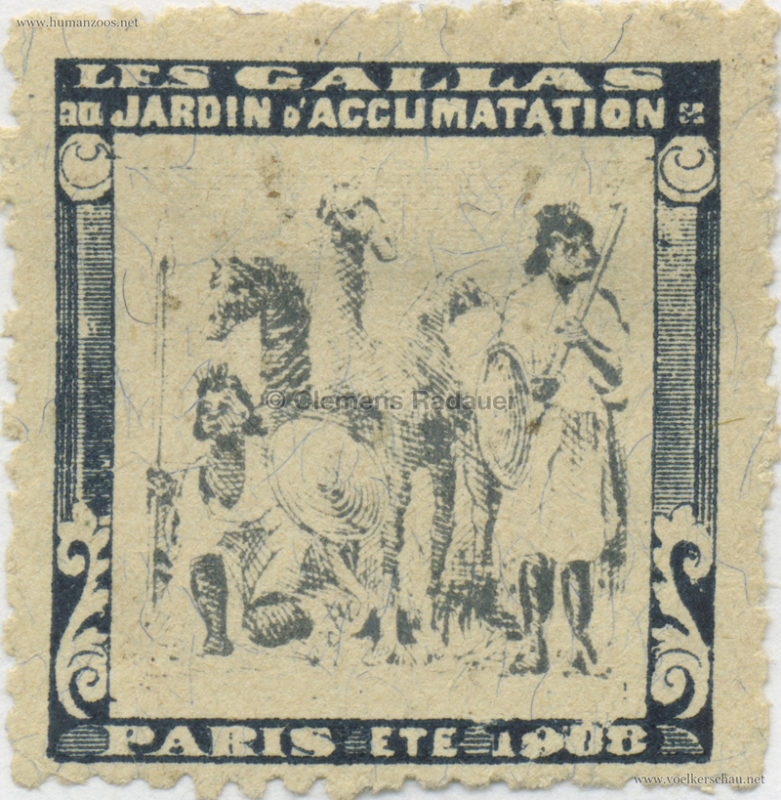 1908 Les Gallas - Jardin d'Acclimatation STAMP 33
