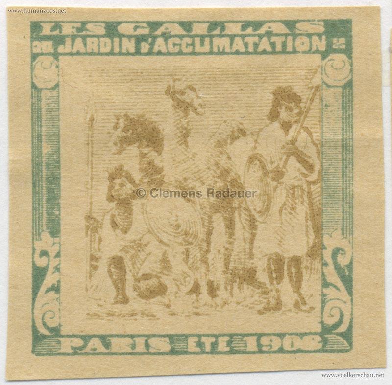 1908 Les Gallas - Jardin d'Acclimatation STAMP 35