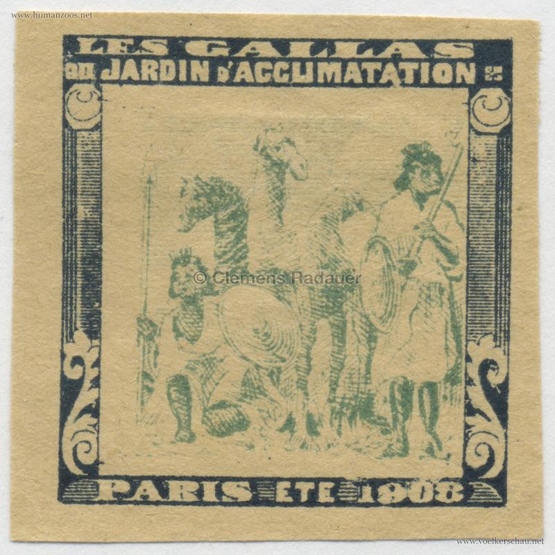 1908 Les Gallas - Jardin d'Acclimatation STAMP 36