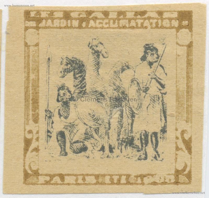 1908 Les Gallas - Jardin d'Acclimatation STAMP 37