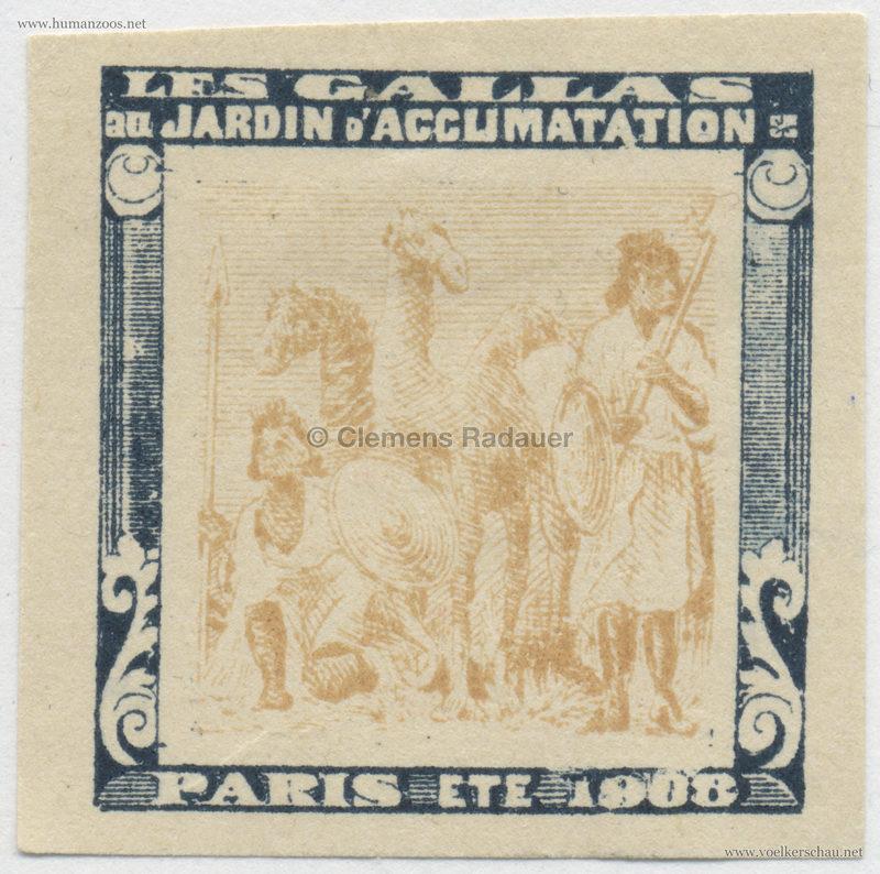 1908 Les Gallas - Jardin d'Acclimatation STAMP 38