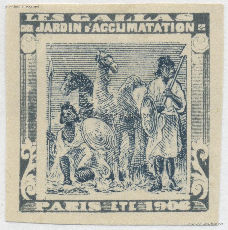 1908 Les Gallas - Jardin d'Acclimatation STAMP 39