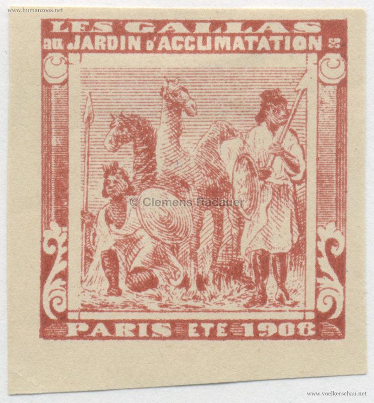 1908 Les Gallas - Jardin d'Acclimatation STAMP 41