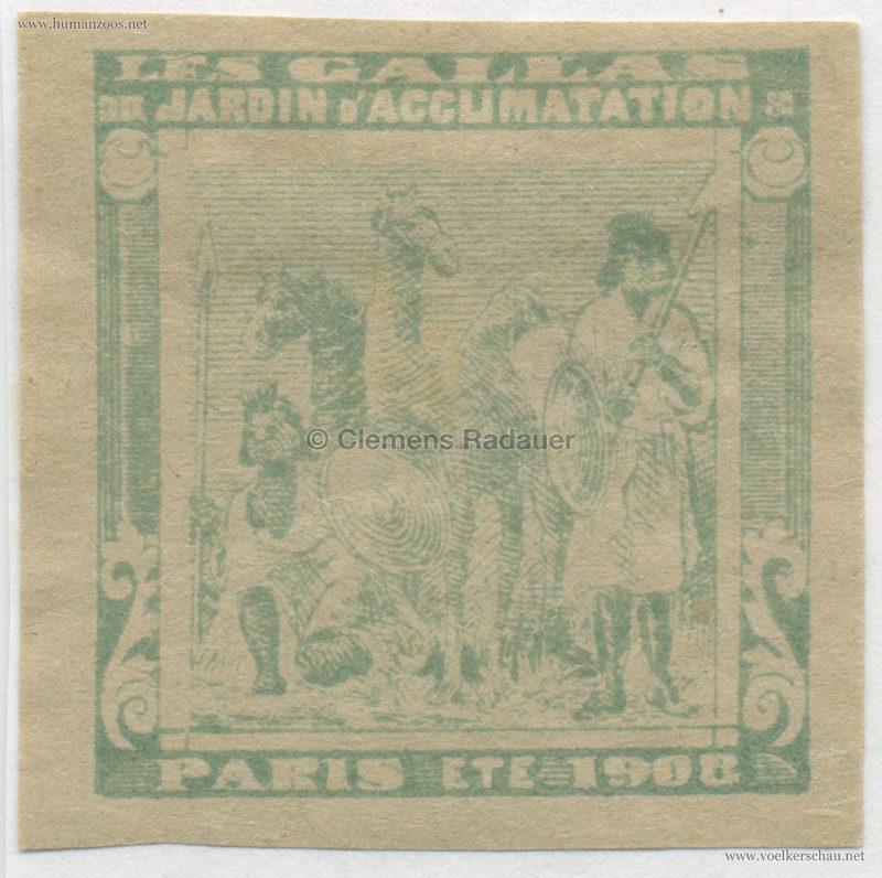 1908 Les Gallas - Jardin d'Acclimatation STAMP 42