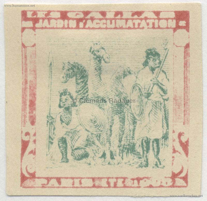 1908 Les Gallas - Jardin d'Acclimatation STAMP 45