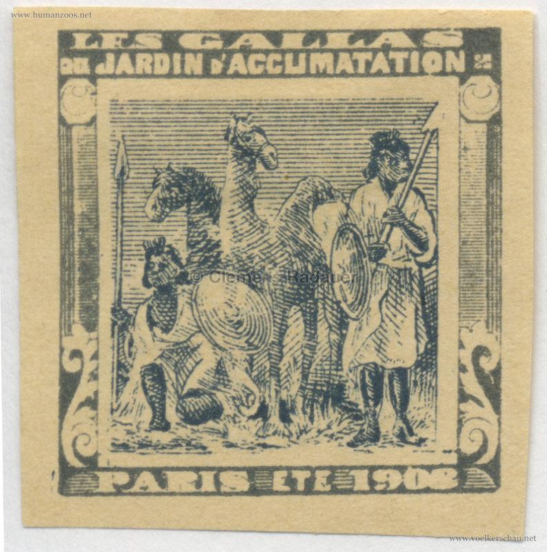 1908 Les Gallas - Jardin d'Acclimatation STAMP 46