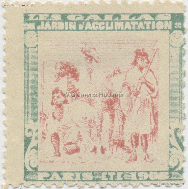 1908 Les Gallas - Jardin d'Acclimatation STAMP 7