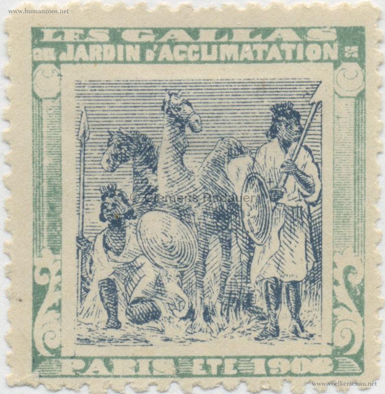1908 Les Gallas - Jardin d'Acclimatation STAMP 8