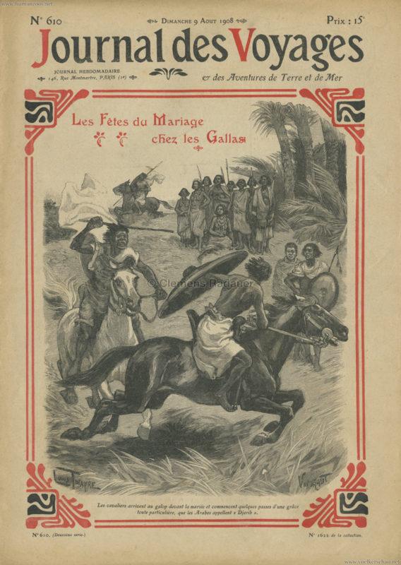 1908.08.09 Journal des Voyages - Une Caravane Gallas au Jardin d'Acclimatation 1