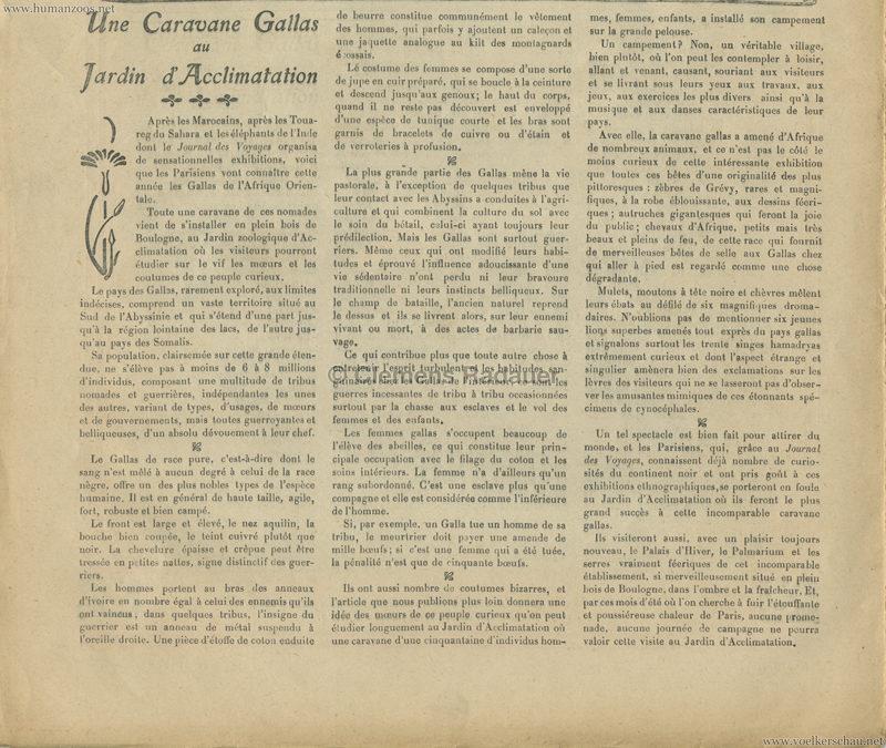 1908.08.09 Journal des Voyages - Une Caravane Gallas au Jardin d'Acclimatation 2