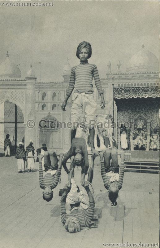 1910:1911:1912 Gustav Hagenbeck's grösste indische Völkerschau der Welt - Akrobaten 2 VS