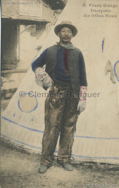 1911 Peaux Rouges - M. Frank Goings