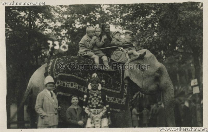 1926 John Hagenbeck's Indienschau - FOTO Elefant 2 VS