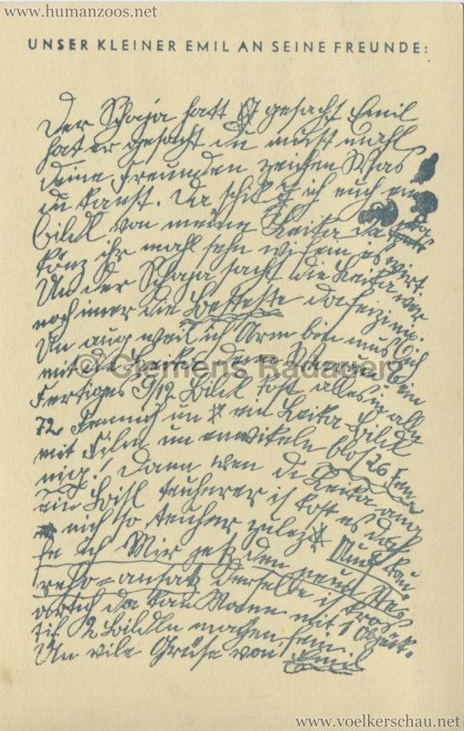 1930:1931 Völkerschau der Lippennegerinnen - Unser kleine Emil RS