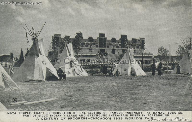 1933 Chicago World's Fair - Maya Temple & Sioux Village
