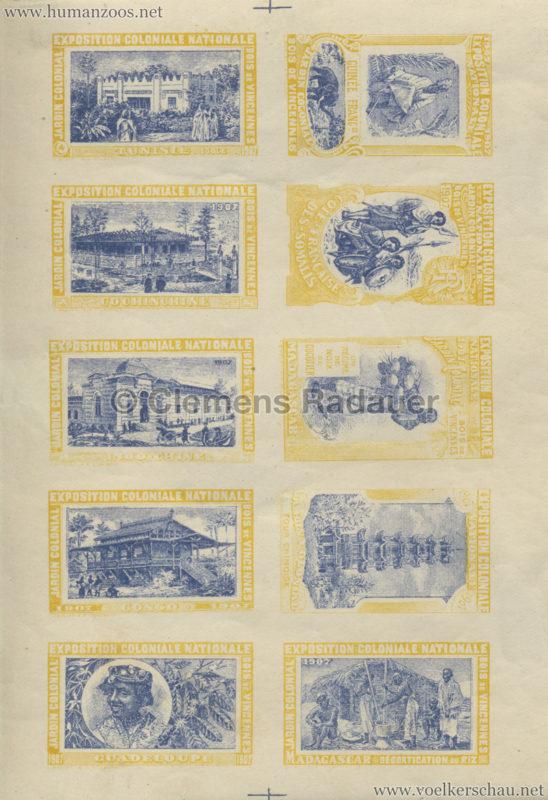1907 Exposition Coloniale Paris, Bois de Vincennes - Jardin Colonial STAMPS