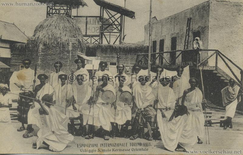 1911 Esposizione di Torino - Villaggio Somalo Kermesse Orientale VS