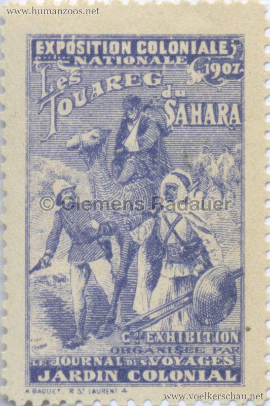 1907 Exposition Coloniale Nationale - Les Touareg du Sahara STAMP