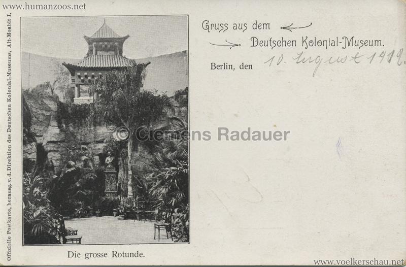 Deutsches Kolonial-Museum - Die grosse Rotunde