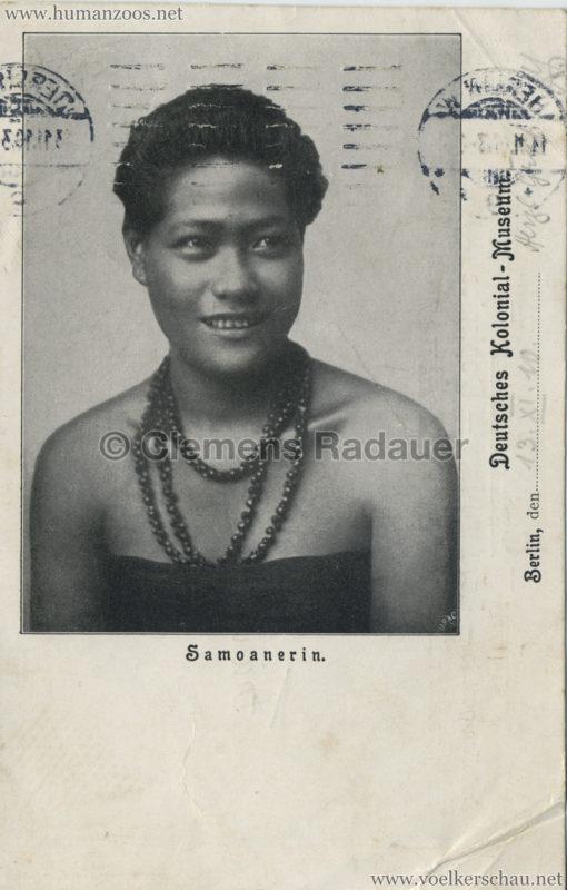 Deutsches Kolonial-Museum - Samoanerin