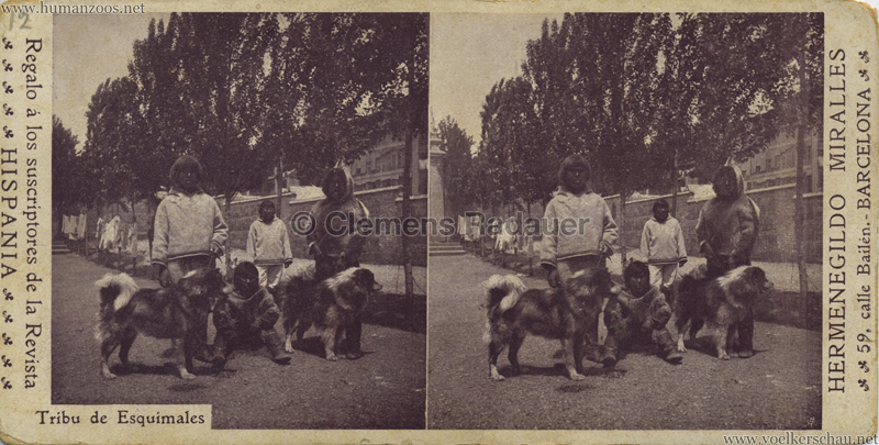 1900 Barcelona Eskimos (Esquimales) STEREO