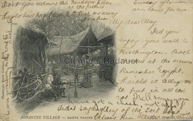 1903 Ashantee Village - Native Weaver