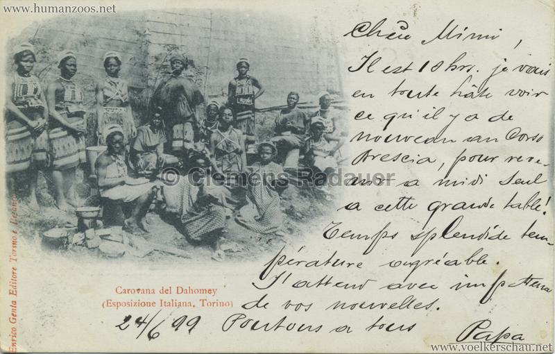 1898 Esposizione Generale Italiana Torino - Villaggio Dahomey (Alberto Urbach???) 2