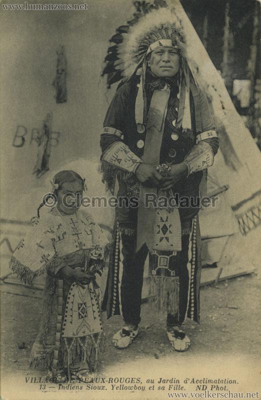 1911 (?) Village de Peaux-Rouges - 13 - Indiens Sioux Yellowboy et sa Fille